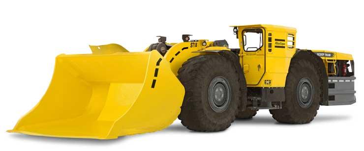 >El ST 18 de Atlas Copco está diseñado para aplicaciones con alta tasa de desarrollo y producción.