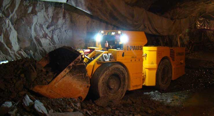 LHD PFL 8 Z de Paus trabajando en una mina de mineral de hierro ucraniana.