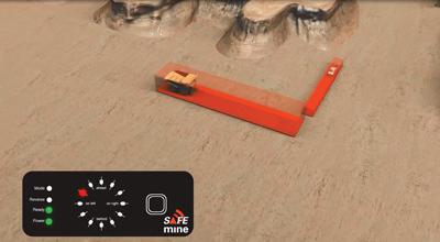Al proporcionar 360° de protección a cualquier velocidad y en cualquier condición de visibilidad con un alcance típico de 800 m, SAFEmine no necesita una línea de visión para funcionar y crea zonas configurables alrededor de cada vehículo.