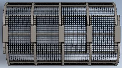 Tres vistas de un temprano prototipo de cubierta protectora diseñado como parte de un proyecto de CEMI para aumentar las velocidades de avance y la eficiencia de la explotación en mina subterránea.